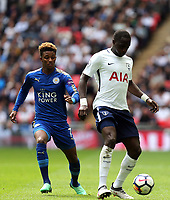 Moussa Sissoko of Tottenham Hotspur and Demarai Gray of Leicester City during Tottenham Hotspur vs Leicester City, Premier League Football at Wembley Stadium on 13th May 2018