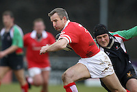 Stan McDowell in action during the charity match between the Ulster 1999 XV and a Wooden Spoon Select XV at Shaw's Bridge Belfast.  Mandatory Credit - Photo : John Dickson