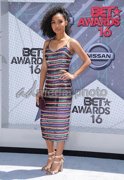 26 June 2016 - Los Angeles. Yara Shahidi. Arrivals for the 2016 BET Awards held at the Microsoft Theater. Photo Credit: Birdie Thompson/AdMedia