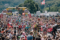 race start in Annecy<br /> <br /> Stage 10: Annecy &gt; Le Grand-Bornand (159km)<br /> <br /> 105th Tour de France 2018<br /> &copy;kramon