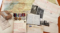 BNPS.co.uk (01202 558833)<br /> Pic: BeechAuctions/BNPS<br /> <br /> Sold for £700, after being rescued from a waste bin - the tragic tale of a doomed Lancaster crew - shot down on its last mission over Germany, on Christmas Eve 1944, the pilots 21st birthday...<br /> <br /> The poignant archive belonged to the family of Flt Sgt Ernest McGuire, wireless operator on the doomed Lancaster Bomber ND388 that set off on Christmas eve 1944.<br /> <br /> The aircraft was due to fly to it's 30th and final operation in Cologne from RAF Grimsby but never made it to its destination.