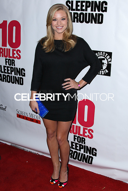 """HOLLYWOOD, LOS ANGELES, CA, USA - APRIL 01: Nikki Leigh at the Los Angeles Premiere Of Screen Media Films' """"10 Rules For Sleeping Around"""" held at the Egyptian Theatre on April 1, 2014 in Hollywood, Los Angeles, California, United States. (Photo by Xavier Collin/Celebrity Monitor)"""