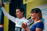 Egan Bernal (COL) Team Ineos finishes in 8th place at the end of Stage 18 and retains the White Jersey of the 2019 Tour de France running 208km from Embrun to Valloire, France. 25th July 2019.<br /> Picture: ASO/Thomas Maheux | Cyclefile<br /> All photos usage must carry mandatory copyright credit (© Cyclefile | ASO/Thomas Maheux)