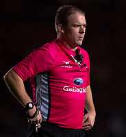 Referee Ian Tempest<br /> <br /> Photographer Bob Bradford/CameraSport<br /> <br /> Gallagher Premiership Round 9 - Harlequins v Exeter Chiefs - Friday 30th November 2018 - Twickenham Stoop - London<br /> <br /> World Copyright &copy; 2018 CameraSport. All rights reserved. 43 Linden Ave. Countesthorpe. Leicester. England. LE8 5PG - Tel: +44 (0) 116 277 4147 - admin@camerasport.com - www.camerasport.com