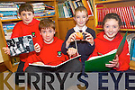Children at Barraduff National School are putting together a comprehensive history project of their region which will be a valuable insight for future generations of life in the past. .Front L-R Brian Friel and Aoife Kelliher .Back L-R Patrick D'arcy and David Cantillon.