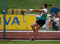 Photo: Richard Lane/Richard Lane Photography..Aviva World Trials & UK Championships athletics. 11/07/2009. Sarah Holt in the women's hammer.