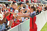 Portland, OR - Saturday September 02, 2017: Meghan Klingenberg after a regular season National Women's Soccer League (NWSL) match between the Portland Thorns FC and the Washington Spirit at Providence Park.