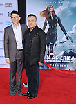 """Anthony Russo and Joe Russo at the premiere of """"Captain America The Winter Soldier"""" held at the El Capitan Theatre in Los Angeles, Ca. March 13, 2014."""