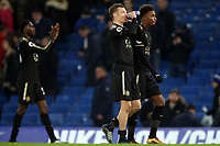 Leicester players applaud their fans after Chelsea vs Leicester City, Premier League Football at Stamford Bridge on 13th January 2018