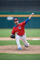 Buffalo Bisons pitcher Ryan Feierabend (32) during an International League game against the Indianapolis Indians on June 20, 2019 at Sahlen Field in Buffalo, New York.  Buffalo defeated Indianapolis 11-8  (Mike Janes/Four Seam Images)