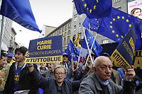 - Milano, manifestazione del 25 aprile, anniversario della Liberazione, sfila il PD, Partito Democratico, con simboli europeisti<br /> <br /> - Milan, demonstration of April 25, anniversary of Italy's Liberation, parade the PD, Democratic Party,  with pro-Europe symbols