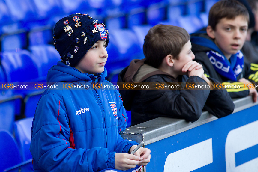 A young home fan hopeful for an autograph - Ipswich Town vs Blackpool - Sky Bet Championship Football at Portman Road, Ipswich, Suffolk - 15/02/14 - MANDATORY CREDIT: Ray Lawrence/TGSPHOTO - Self billing applies where appropriate - 0845 094 6026 - contact@tgsphoto.co.uk - NO UNPAID USE