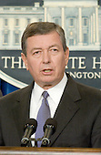 United States Attorney General John Ashcroft makes a statement in the White House Briefing Room in Washington, D.C. on Tuesday, September 11, 2001 in the hours following the terrorist attacks against the World Trade Center in New York and the Pentagon in Washington, DC..Credit: Ron Sachs / CNP