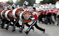 Members of the Akashikita High School  Marching band sprint down the parade route at the 119th Rose Parade on Tuesday, January 1, 2008..