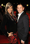 Arcy Munoz and Lewis Cuellar on the red carpet at Fashion Houston at the Wortham Theater Wednesday Nov.13,2013.  (Dave Rossman photo)