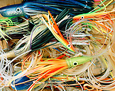 USA, Florida, deep sea fishing lures, close-up, Islamorada