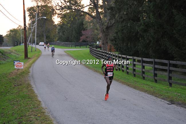 Start of the 2012 Iron Horse Half Marathon, Midway, Kentucky  October 14, 2012<br /> Photo by Tom Moran