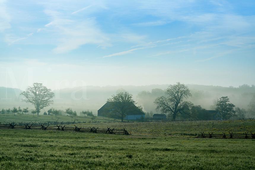 The Trostle Farm and battlefield, Gettysburg National Military Park, Pennsylvania, USA