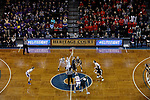 SIOUX FALLS, SD: MARCH 23:  Central Missouri and Ashland tip off their game at the 2018 Division II Women's Basketball Championship at the Sanford Pentagon in Sioux Falls, S.D. (Photo by Dick Carlson/Inertia)