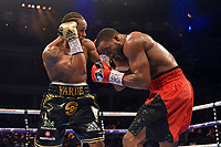 Anthony Yarde (black shorts) defeats Travis Reeves during a Boxing Show at the Royal Albert Hall on 8th March 2019