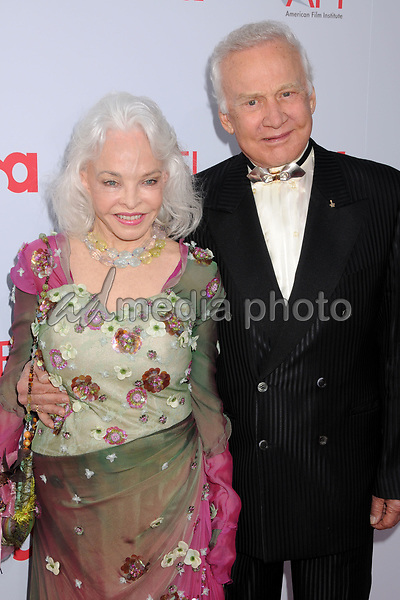 12 June 2008 - Hollywood, California - Buzz Aldrin and wife Lois. 36th Annual AFI Life Achievement Award at the Kodak Theatre. Photo Credit: Byron Purvis/AdMedia