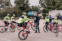 car park wheelie by John DEGENKOLB (DEU/Trek-Segafredo) <br /> <br /> Team Trek-Segafredo training camp<br /> Mallorca jan2019<br /> <br /> &copy;kramon