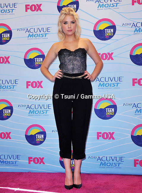 Ashley Benson  at the Teen Choice 2012 Awards at the Universal Amphitheatre In Los Angeles.
