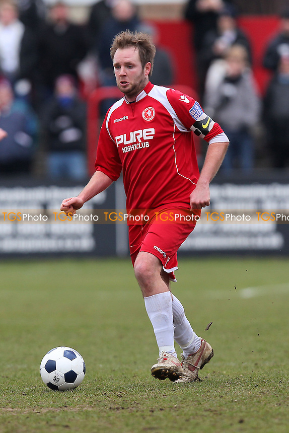 Lee Clarke of Welling - Welling United vs Chelmsford City - Blue Square Conference South Football at Park View Road - 29/03/13 - MANDATORY CREDIT: Gavin Ellis/TGSPHOTO - Self billing applies where appropriate - 0845 094 6026 - contact@tgsphoto.co.uk - NO UNPAID USE.