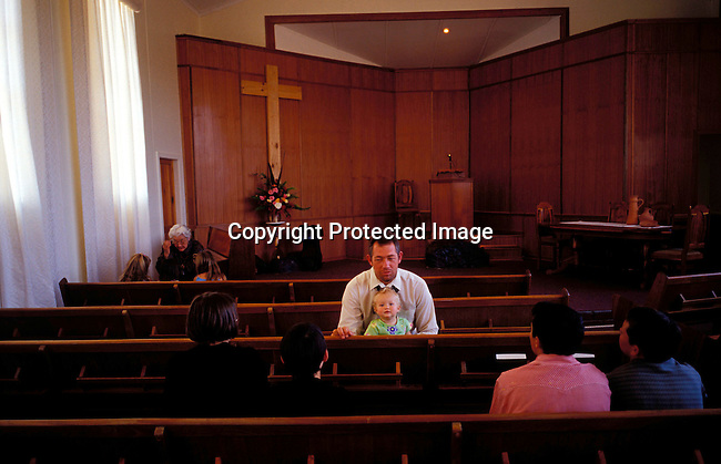DIPOAFR00080.Culture Afrikaners A Sunday school taching the Dutch Reform Calvinist theology  to children in Orania, an all white community in Northern Cape, South Africa..Photo: Per-Anders Pettersson/ iAfrika Photos