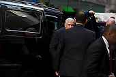 United States Vice President-elect Mike Pence, arrives at Trump Tower in Manhattan, New York, U.S., on Tuesday, December 13, 2016. <br /> Credit: John Taggart / Pool via CNP