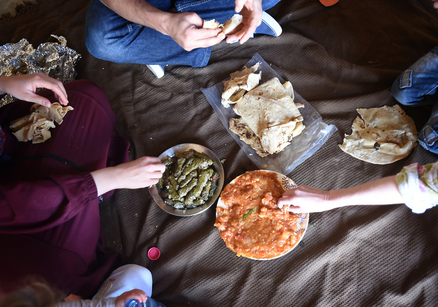 A PIECE OF JORDAN - TRAVEL FEATURE. EATING TRADITIONAL DISHES . PHOTO BY CLARE KENDALL. 07971 477316.