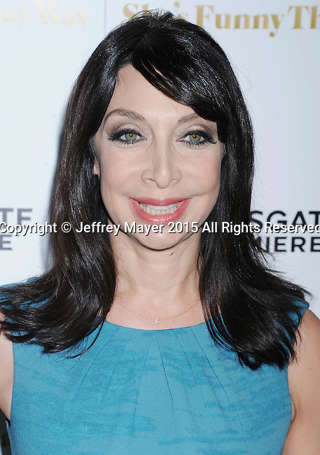 LOS ANGELES, CA - AUGUST 19: Actress Illeana Douglas arrives at the Premiere Of Lionsgate Premiere's 'She's Funny That Way' at Harmony Gold on August 19, 2015 in Los Angeles, California.