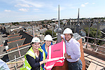 R &amp; M Williams<br /> Topping out at Four Elms Church in Cardiff.<br /> L-R: Beth Gamble, No Fit State Circus, Jenny Clemence, and Kevin Sutton, Architects.<br /> <br /> 20.08.13<br /> <br /> &copy;Steve Pope-Fotowales