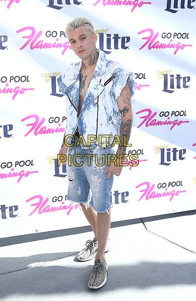 15 April 2017 - Las Vegas, Nevada - Aaron Carter. Aaron Carter performs at Flamingo GO Pool. <br /> CAP/ADM/MJT<br /> &copy; MJT/ADM/Capital Pictures