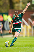 30th September 2017, Welford Road, Leicester, England; Aviva Premiership rugby, Leicester Tigers versus Exeter Chiefs;  George Ford converts Nick Malouf's try on 30 minutes for Tigers