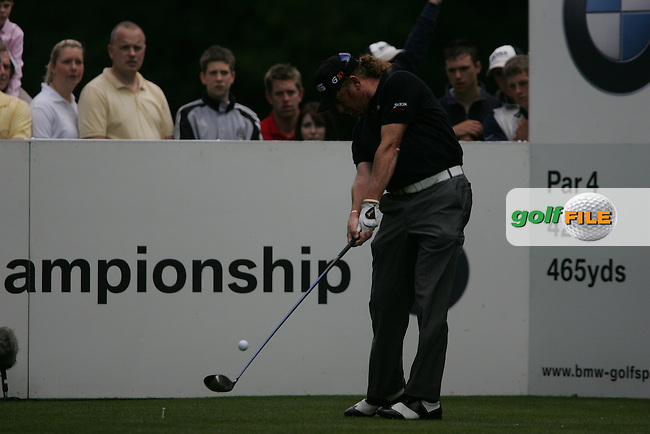Miguel Angel Jimenez on the 3rd hole in the final round at the Wentworth Club, Surrey, England - 25th May 2008 (Photo by Manus O'Reilly/GOLFFILE)