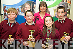 Coolard NS students with teacher Kerry Bambary who took 3rd Place in the under 11 section of the Credit Union Chapter 23 Quiz held in the ITT North Campus on Sunday afternoon were l/r John Scully, Joseph Lynch, Erin Halpin and Cian O'Mahony.............................................................................................................................................. ............