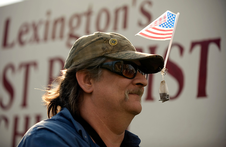 Art Jones III, attends a Tea Party in Lexington, Ky., where senate candidate Rand Paul addressed the crowd, April 15, 2010.