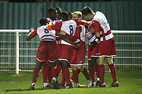 Mo Kargbo of Ilford scores the first goal for his team and celebrates during Redbridge vs Ilford, Essex Senior League Football at Oakside Stadium on 10th January 2020