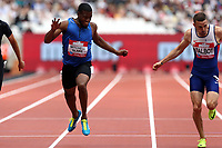 Nethaneel Mitchell-Blake of Great Britain and Daniel Talbot of Great Britain competes in the menís 200 metres during the Muller Anniversary Games at The London Stadium on 9th July 2017