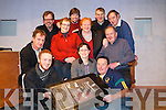 Jack Healy, Pat Cuffe, Padraig Clifford, Bernie Costello, Margaret O'Shea, Neil O'Sullivan, Fr Donal O'Connor, Ger Cronin, Ian Joy and Noel O'Sullivan, some of the members of teh Beaufort Amateur Dramatics Group pictured as they announced details of their upcoming plays which will be held in the Beaufort Community centre from Wednesday to Friday nest week. Missing form the picture are David Leane and Geraldine Mangan.
