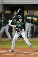 Siena Saints infielder Tyler Martis (1) at bat during the opening game of the season against the UCF Knights on February 13, 2015 at Jay Bergman Field in Orlando, Florida.  UCF defeated Siena 4-1.  (Mike Janes/Four Seam Images)
