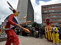 BOGOTÁ-COLOMBIA-19-03-2014. El Bulevar Cultural del Centro Internacional fue el escenario para el lanzamiento de la programación al aire libre del XIV Festival Iberoamericano de Teatro que se realizará en Bogotá entre el 4 y el 20 de abril de 2014./ The Bulevar Cultural del Centro Internacional was the place  to the launch of the outdoor schedule of the XIV Ibero-American Theater Festival to be Helm in Bogota  between 4 and 20, 2014.  Photo: VizzorImage/ Gabriel Aponte /Staff
