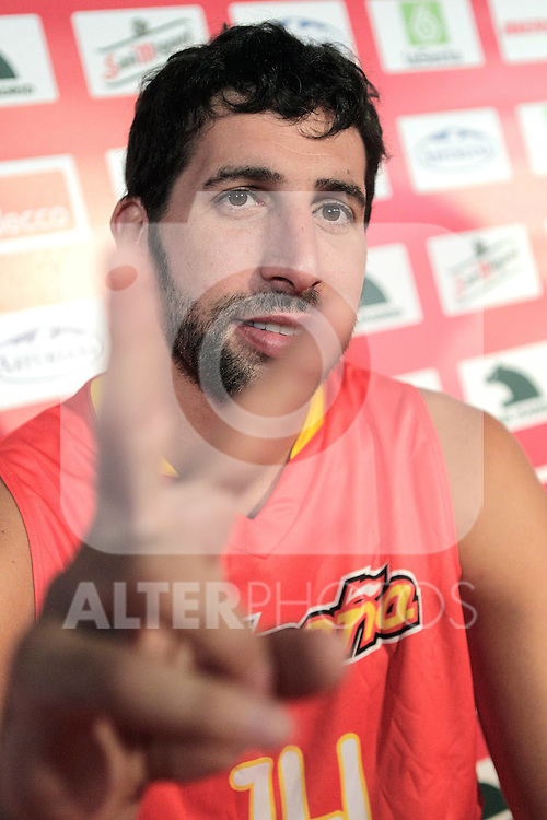 Spain's basket national team Alex Mumbru during presentation for world championships. July 21, 2010. (ALTERPHOTOS/Alvaro Hernandez)