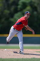 Boston Red Sox pitcher Kevin McAvoy (55) during a minor league spring training game against the Baltimore Orioles on March 18, 2015 at Buck O'Neil Complex in Sarasota, Florida.  (Mike Janes/Four Seam Images)