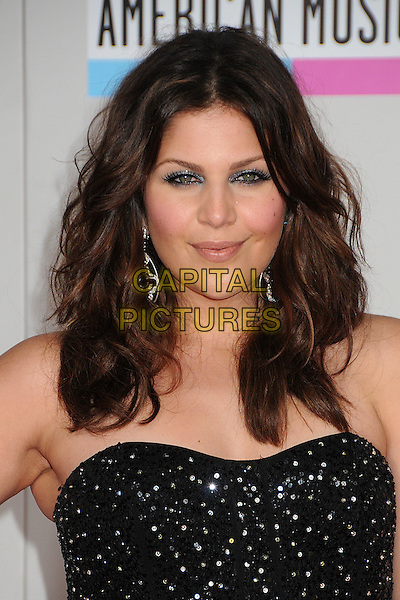 Hillary Scott of Lady Antebellum.2011 American Music Awards - Arrivals held at Nokia Theatre LA Live, Los Angeles, California, USA..November 20th, 2011.ama amas ama's headshot portrait black strapless sequins sequined .CAP/ADM/BP.©Byron Purvis/AdMedia/Capital Pictures.