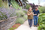 """Andrew and Patricia Nimelman cosult with Donna Smith (otherwise known as """"Your Backyard Farmer) at their home in NE Portland, OR"""