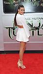 Amber Montana arriving to the Teenage Mutant Ninja Turtles Premiere held at the Regency Village Theater Los Angeles, Ca. August 3, 2014.