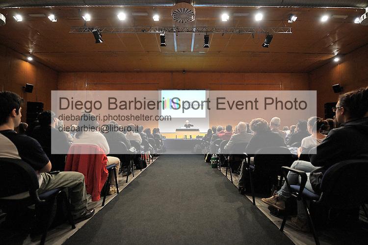 (KIKA) - TORINO - 17/05/2013 A Torino si tiene il 26° Salone del Libro con esposizioni, dibattiti e grandi ospiti, al salone del Lingotto. Valerio Manfredi