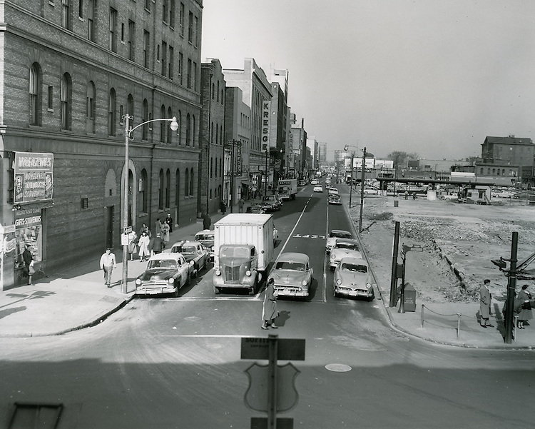 UNDATED..Historical..Monticello Avenue at City Hall Avenue looking North..PHOTO CRAFTSMEN INC..NEG# 27-550.NRHA# 699..